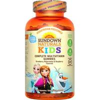 Sundown naturals kids disney frozen complete multivitamin gummies, strawberry watermelon and raspberry, 180 ct
