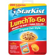 (3 Pack) StarKist Lunch To-Go, Ready-to-Eat Tuna Salad, Original Deli Style, 3.8 Ounce Box