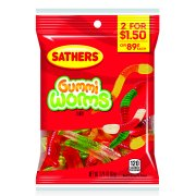 Sathers Gummy Worms Candy, 3.25 Ounce Bag
