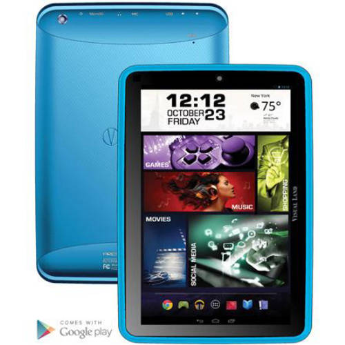 """Visual Land Prestige Elite 8Q with WiFi 8"""" Touchscreen Tablet PC Featuring Android 4.4 (KitKat) Operating System"""