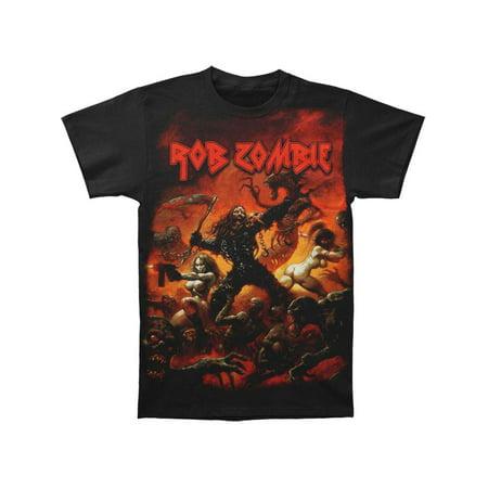 Rob Zombie Men's  Battle Jumbo T-shirt White - Rob Zombie Clown