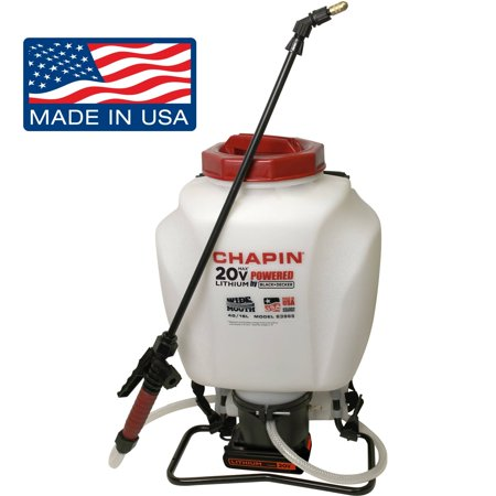 Chapin 63985 4 Gallon Wide Mouth 20V Battery Backpack Sprayer Powered By Black   Decker Made In The Usa