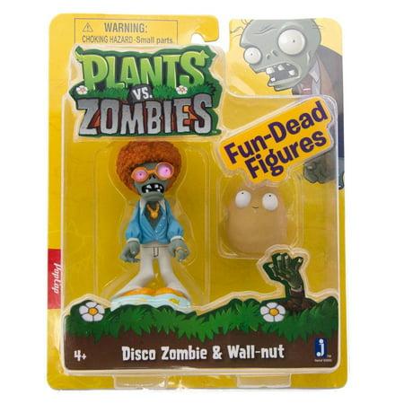 Plants vs. Zombies Fun-Dead Figures Disco Zombie & Wallnut Figure 2-Pack](Zombie Toys For Boys)