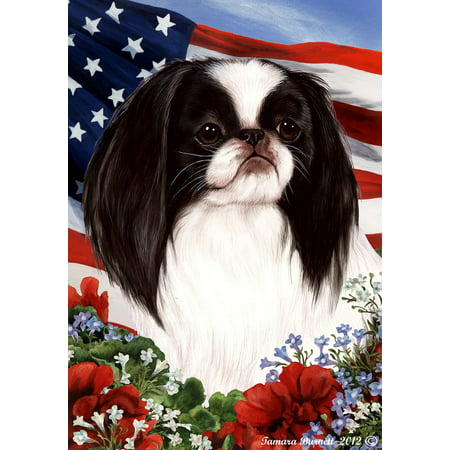 Japanese Chin Black and White - Best of Breed Patriotic I Garden
