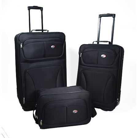 American Tourister Brewster 3-Piece Luggage Set, Black - Walmart.com