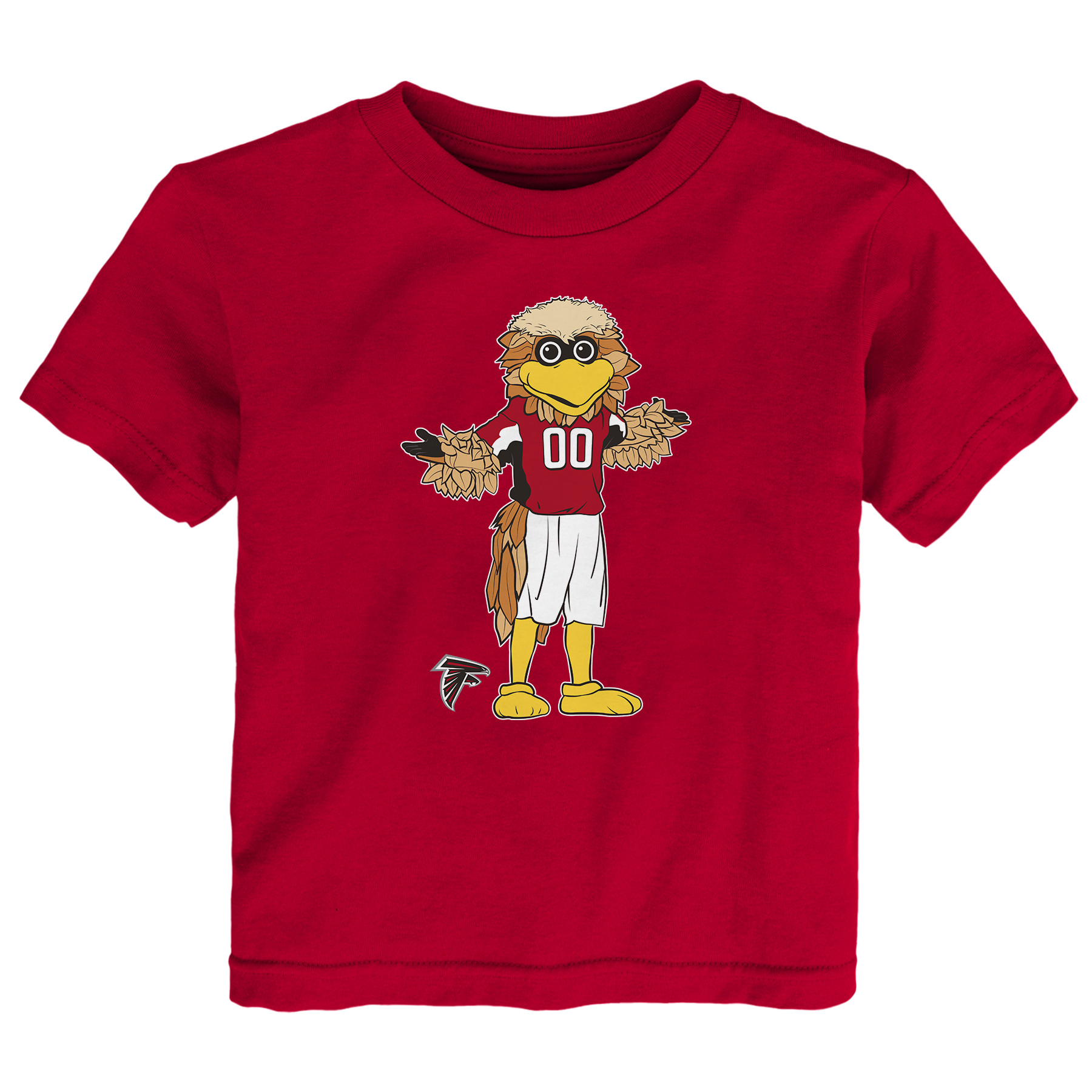 Atlanta Falcons Toddler Standing Team Mascot T-Shirt - Red