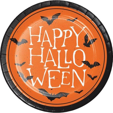 Creative Converting Happy Halloween Dessert Plates, 8 ct - Braces Spacers Happy Halloween