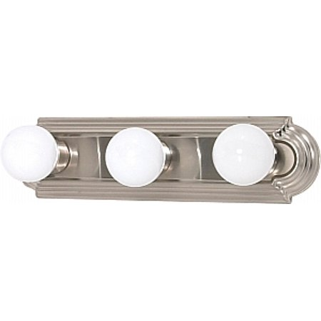 NUVO Lighting 3 Light Incandescent Brushed Nickel Wall Mount Light Fixture - Incandescent Three Light Wall
