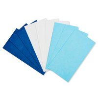 American Greetings Light Blue, Navy Blue and White Tissue Paper, 125 Sheets