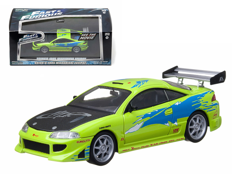 """1995 Mitsubishi Eclipse The Fast and The Furious"""" Movie (2001) 1 43 Diecast Car Model... by GreenLight"""