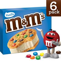 M&M's, Cookie Sandwiches With Vanilla Ice Cream, 6 Ct