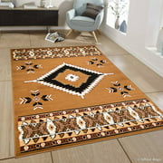 """Allstar Brown Woven High Quality Rug. Traditional. Persian. Flower. Western. Design Area Rug (3' 9"""" x 5' 1"""")"""