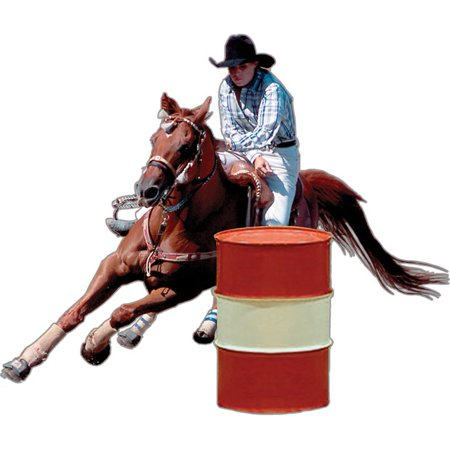 Barrel Racer Rodeo Magnet (Best Barrel Racer In The World)