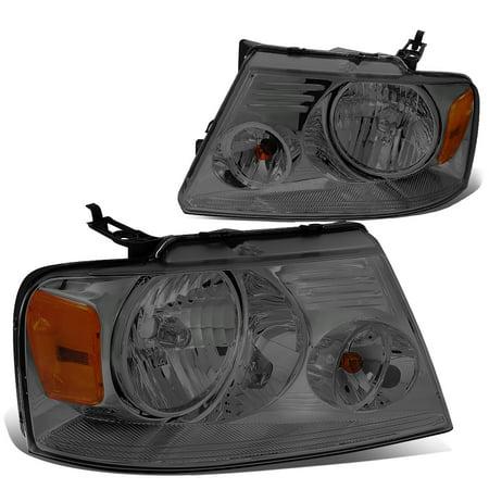 Corner Lights Lens - For 04-08 Ford F150 11th Gen Smoke Lens Amber Corner Headlight 05 06 07