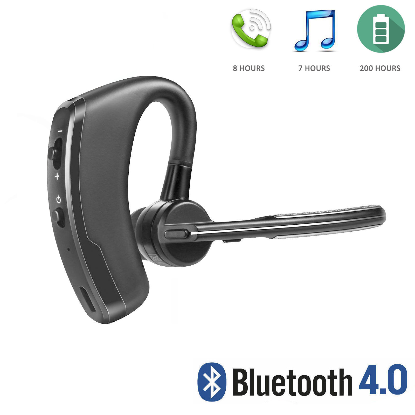 Wireless Bluetooth 4.0 Stereo Surround Music Earphone Handsfree Headphone Earbuds for iPhone Samsung Galaxy LG with MIC Microphone