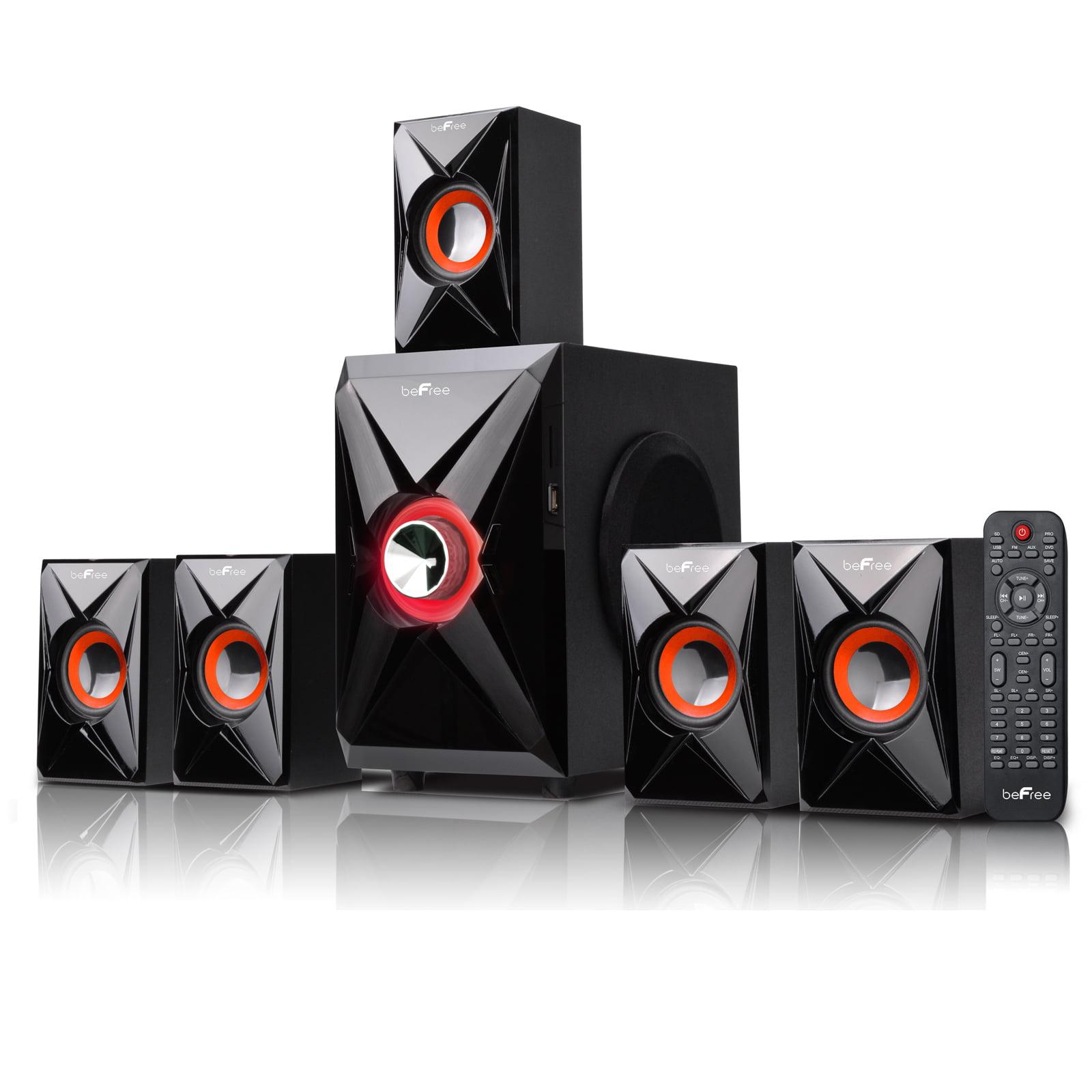 beFree Sound BFS-420 5.1 Channel Surround Sound Bluetooth Speaker System- Orange