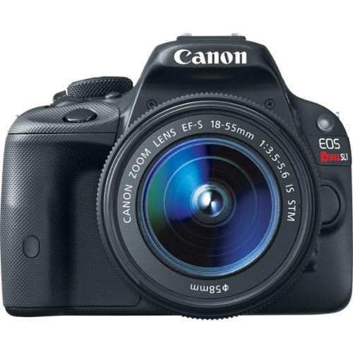 Canon EOS Rebel SL1 18MP Digital SLR Camera w/ 18-55mm IS STM Lens Kit - Black