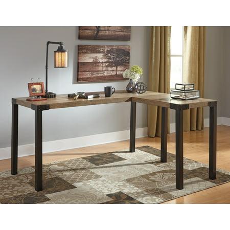 Ashley Dexifield Light Brown Home Office Corner Desk H209 24. Ashley Furniture Desks