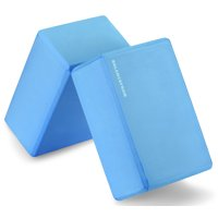 "Everyday Essentials GoYoga Set of 2 High Density Yoga Blocks, 9""x6""x4"" Each [NEWEST VERSION]"