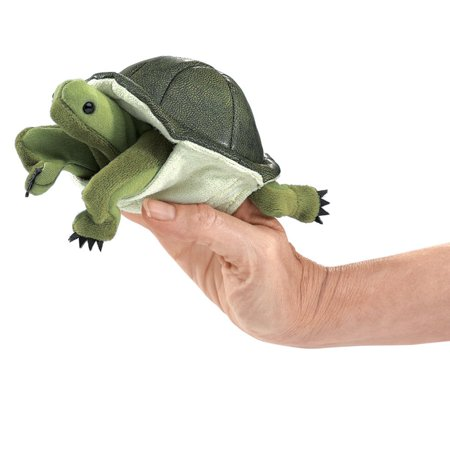 4 Plush Finger Puppet (Finger Puppet - Folkmanis - Mini Turtle New Animals Soft Doll Plush Toys 2732 )