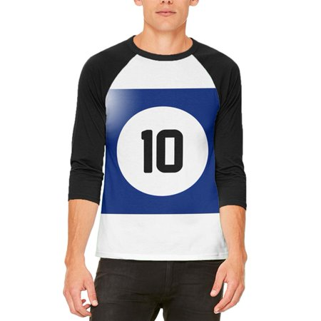 10 Opinions About Halloween (Halloween Billiard Pool Ball Ten Costume All Over Mens Raglan T)