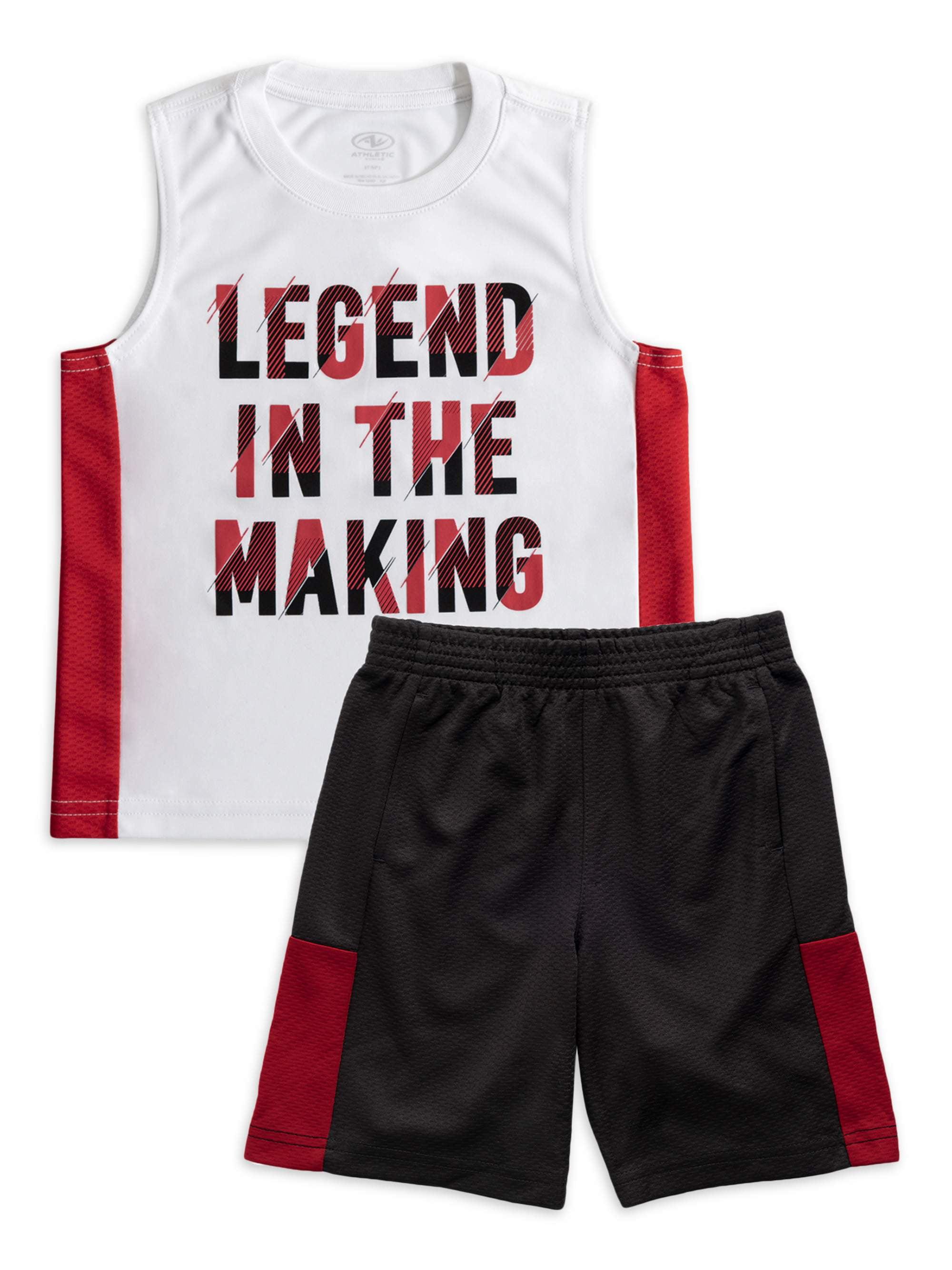 Pro Athlete Boys Legend 2-Piece Shorts Set Outfit