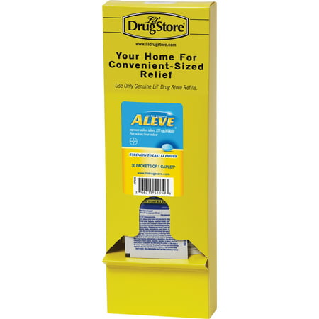 Lil' Drug Store, LIL51030, LIL' Drug Store Aleve Medicine Single Dose Refill, 30 / Box (Medicine Single)