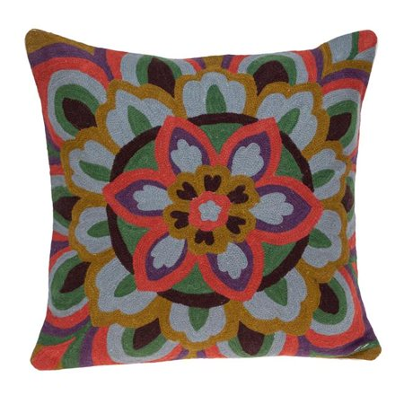 Parkland Collection PILH21074D Blossom Accent Multi-color-colored Pillow Cover with Down Insert - image 1 de 1