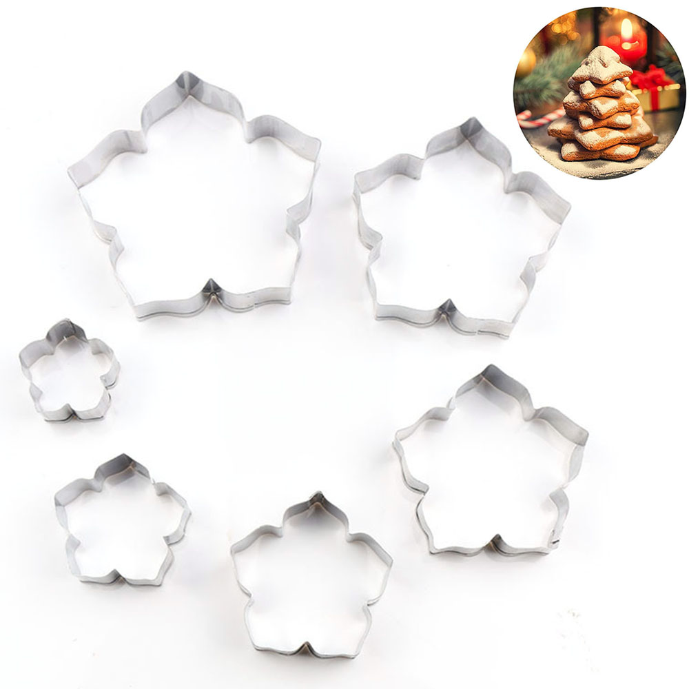 Water Lily Petal Cutters Set Stainless Steel Fondant Cutter Molds