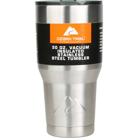 Ozark Trail 30 oz Double-Wall, Vacuum-Sealed Tumbler - Floating Koozie