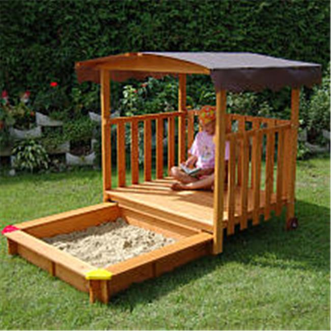 PLAYHOUSE Sandbox - playhouse rolls over the sandbox