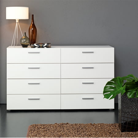 (Tvilum Loft 8-Drawer Double Dresser, Multiple Colors)