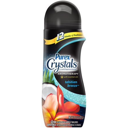(3 pack) Purex Crystals In-Wash Fragrance Booster, Aromatherapy Tahitian Breeze, 15.5 Ounce