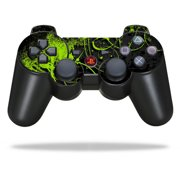 Skin Decal Wrap for Sony PlayStation 3 PS3 Controller Green Distortion