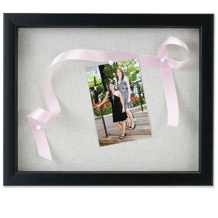 Glove Shadow Box (11x14 Black Shadow Box Frame - Linen Inner Display Board)