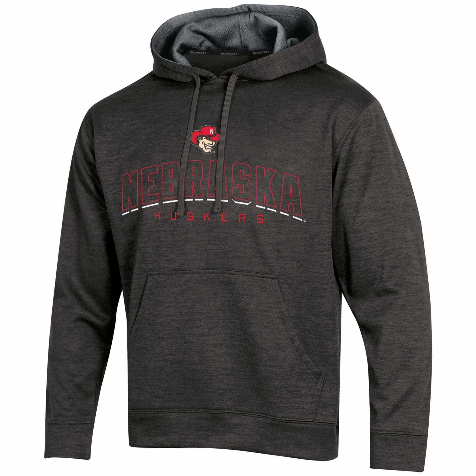Men's Russell Black Nebraska Cornhuskers Synthetic Pullover Hoodie