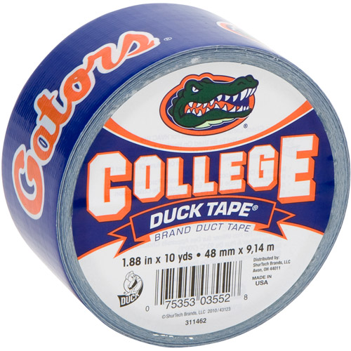 "Duck Brand Duct Tape, College Logo Duck Tape, 1.88"" x 10 yard, Univ. of Florida Gators"