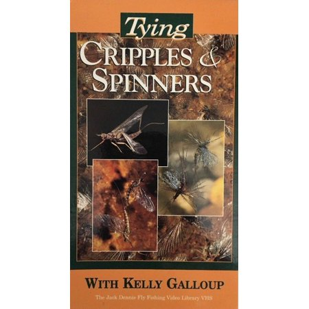Tying Cripples & Spinners VHS by Kelly Galloup-TESTED-RARE VINTAGE-SHIP N 24 HRS