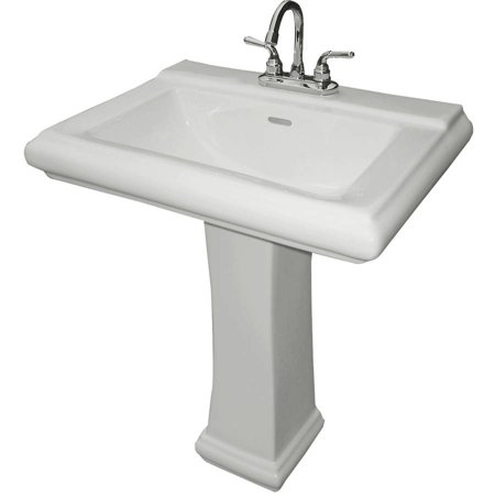 Cascadian Sanitary Ware 33 lb White China Royal Square Pedestal Lavatory Base