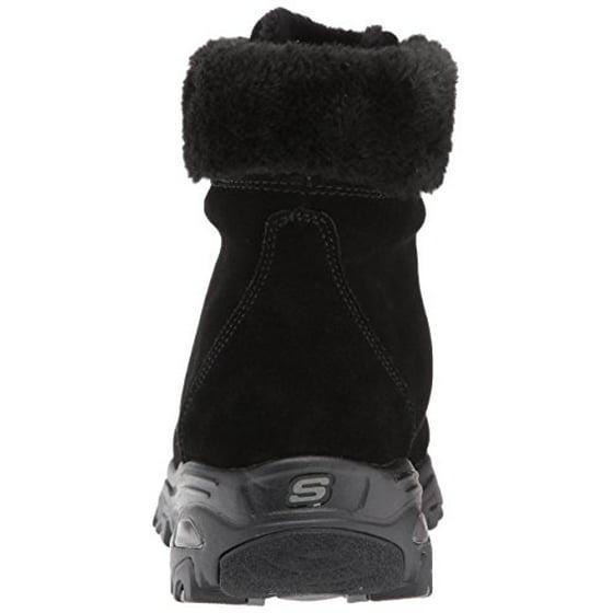 fairer Preis Fang Online bestellen Skechers Women's D'Lites-Alps W Snow Boot,Black,5 W US