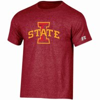 Iowa State Cyclones Russell Athletic Youth Oversized Graphic Crew Neck T-Shirt - Cardinal