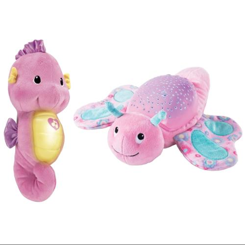 Summer Infant Slumber Buddies Butterfly Night Light with Fisher-Price Soothing Seahorse