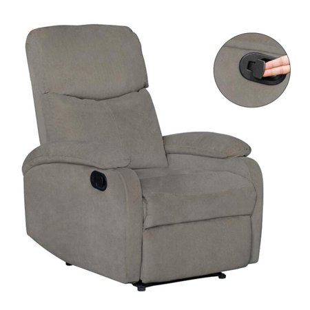 Windaze Manual Recliner Chair, Single Living Room Office Sofa High Back  Thick Padded Home Theater Seating Gray