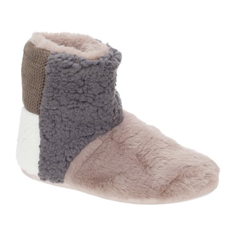 Slumberzzz Womens/Ladies Patchwork Bootee Slippers - image 1 of 1