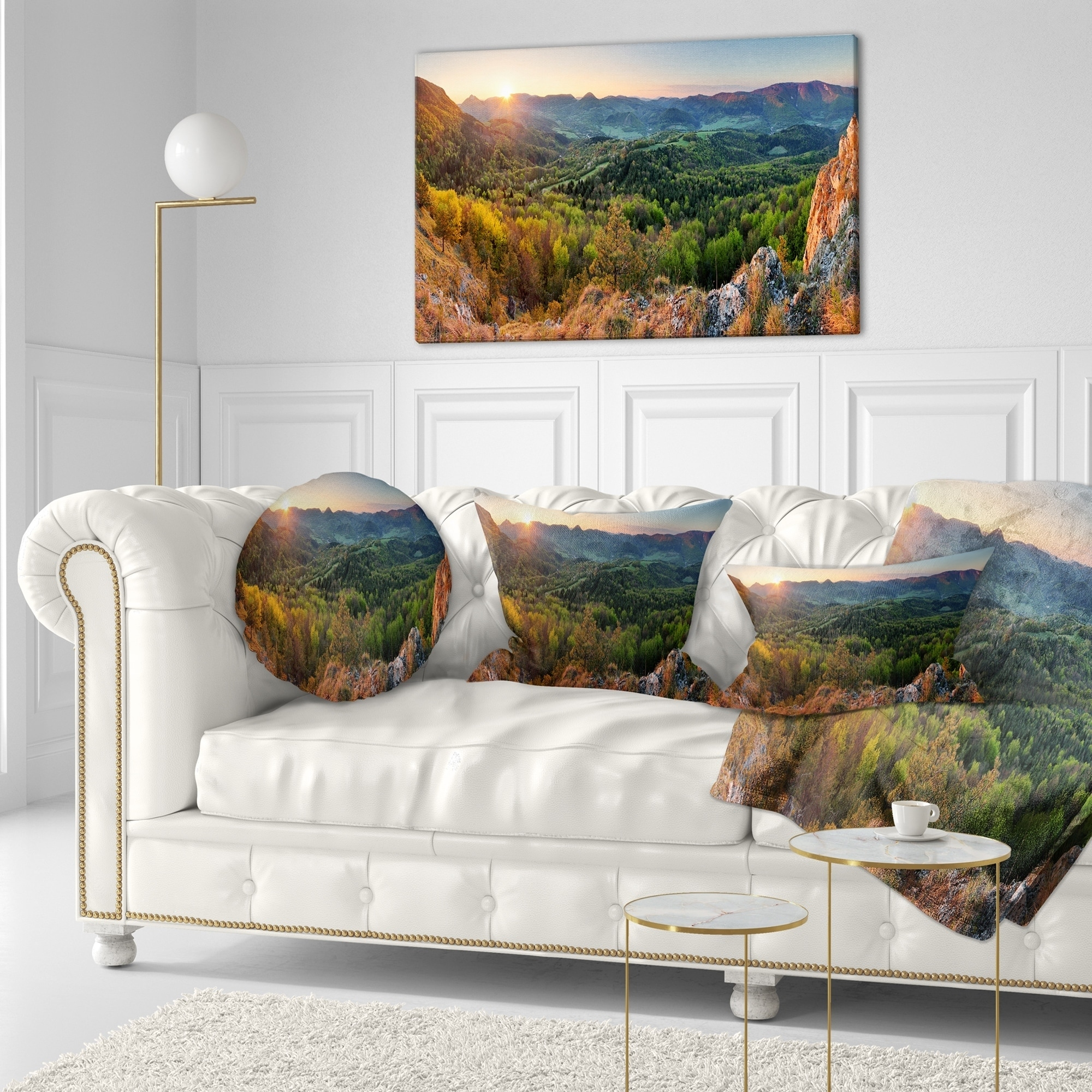 Designart Cu8165 18 18 Spring Forest Slovakia Landscape Photography Throw Pillow 18 X 18 Throw Pillow Covers
