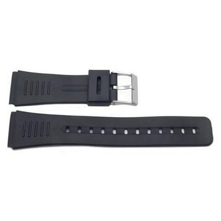 Casio Databank Replacement Watch Band 22mm Black Resin ()