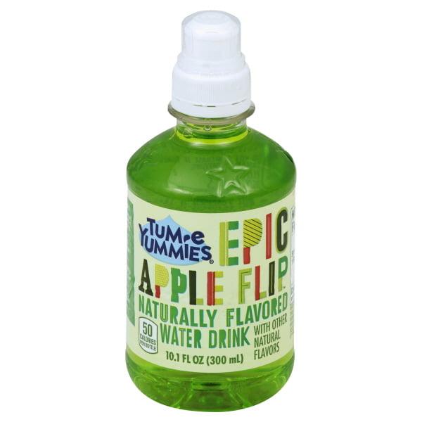 Tum-E Yummie Apple Flip Naturally Flavored Water Drink, 10.1 Fl. Oz.