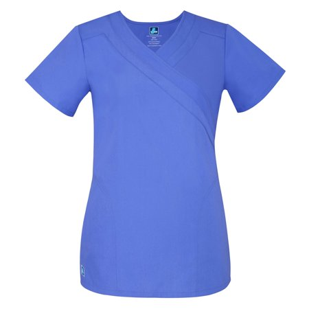 Adar Universal Double Mock Wrap Top - 2630 - Ceil Blue - (2 Pocket Mock Wrap)