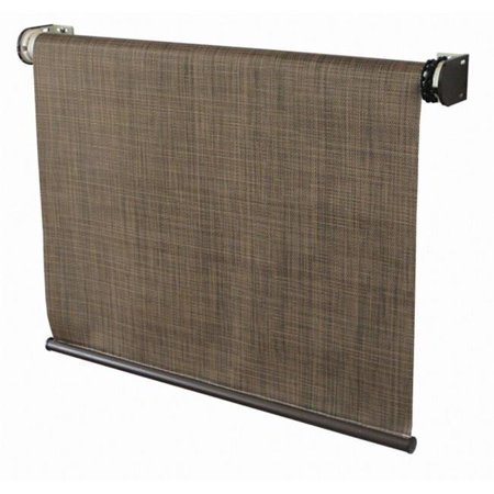 Coolaroo 338954 8 X 6 Ft Exterior Cordless Roller Shade Sandalwood