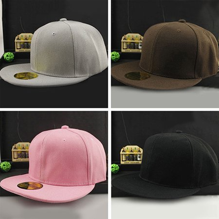d5695675bb680 Obstce Unisex Fashion Hip-Hop B-Boy Blank Plain Adjustable Snapback Hat  Baseball Cap - Walmart.com